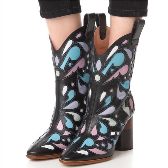 38f29762914 Maison Martin Margiela Laser Cut Cowboy Boots
